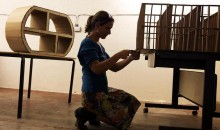 Making Cardboard furniture in the workshop space